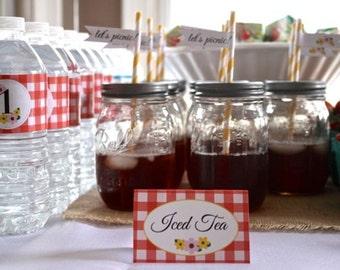 "FOOD LABELS ""picnic themed"" - diy printable"