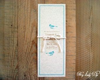 100 rustic love bird programs woodland forest by my lady dye - Love Birds Wedding Invitations