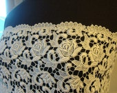 "42"" Wide Light Ivory Venice Style Lace Antique Style Lace Wedding Lace Bridal Lace Scalloped Edge Wedding Dress Gown Wedding Fabric JM18"