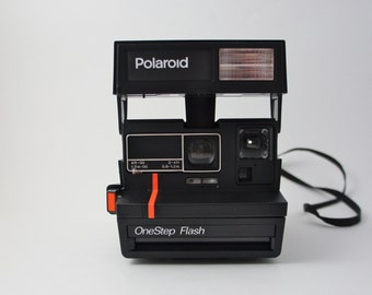 "Polaroid OneStep Flash ""Red Stripe"" Instant Film Camera"