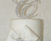 As Seen On TLC's Four Weddings - Crystal Monogram Cake Topper - wedding cake topper