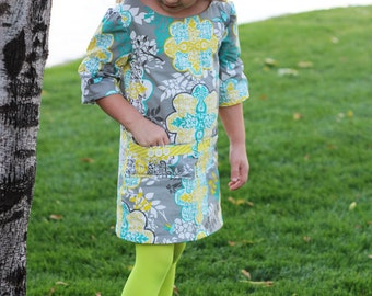 50% OFF The Adelaide Dress for Girls sewing pattern -girls a-line dress pattern, girls dress pattern, girls sewing pattern