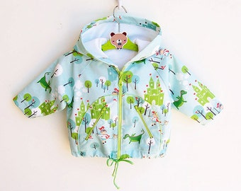 KNIGHT Hoodie Baby Boy Girl Jacket Raincoat sewing pattern Pdf, toddler newborn 3 6 9 12 18 m and 1, 2 yrs Instant Download
