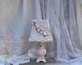 Pink Lamp Shabby Chic Beach Cottage Bedroom