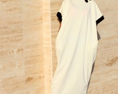 Black and off white Caftan, Abaya, Maxi Dress, Caftan dress, Kaftan, Oversized Dress, Party Dress, Prom Dress