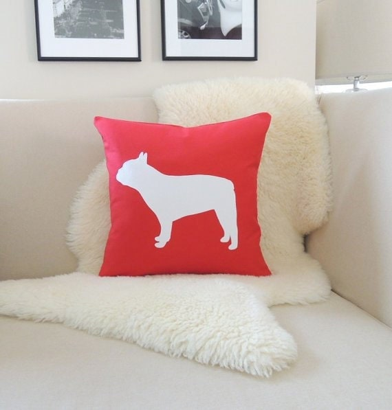 Bulldog Silhouette Pillow French Bulldog Pillow Cover