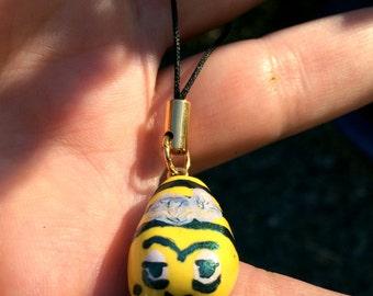 Zom-BEE/Zombie Bee Polymer Clay Phone Charm/Zipper Pull