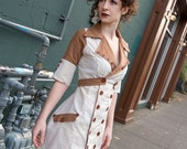 SAUCER- Vintage Inspired Dress - Handmade to order OOAK ( one of a kind ) You Pick Fabric. Waitress, Uniform, Business Babe