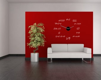 Math Clock - math wall decals/ vinyl wall decal/ math clock decals/ science art/ math wall sticker/ classroom vinyl/ math decal/ teacher