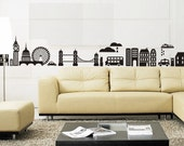 Wall Stencils/ Stickers - London Skyline - Urban Abstract - Home Decor