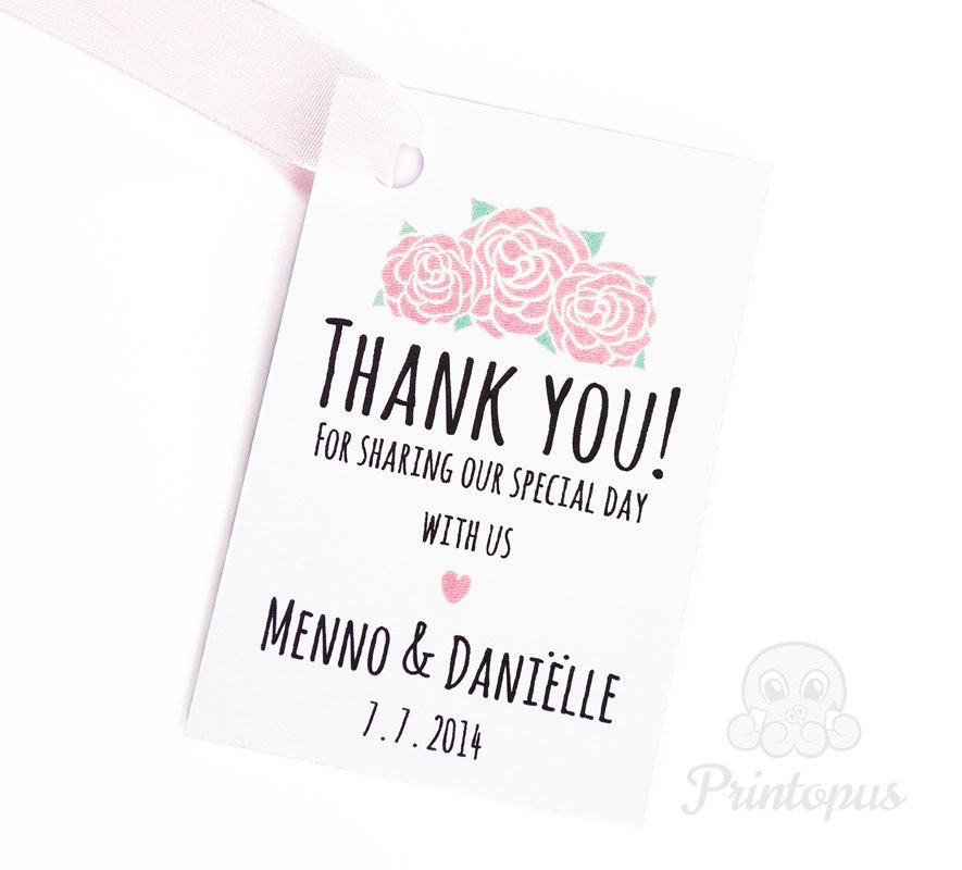 Wedding Gift Tags Diy : Printable Wedding Favor Tags DIY Editable PDF Digital File