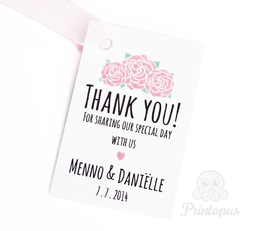 Printable Wedding Favor Tags DIY Editable PDF Digital File