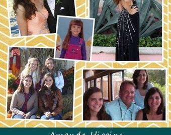 Custom Senior Yearbook Ad 1/2 Page