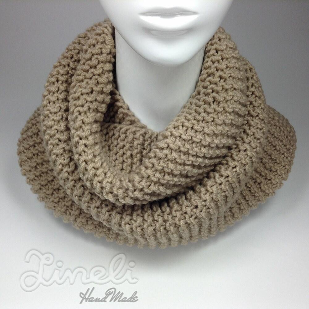 big sale knit scarf infinity scarf beige scarf winter