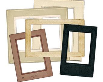 Vintage Photo Frames Clip Art, Vintage Frames Clip Art, Clip Art for Scrapbooking, Old Frames Clip Art, Vintage Clip Art, Instant Download