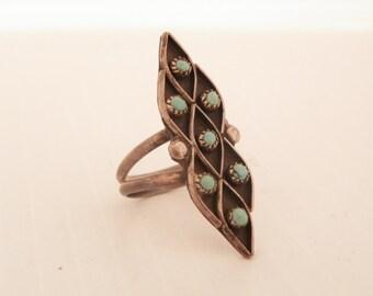 Ladies Zuni Turquoise Ring