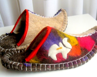 Felted slippers(6)