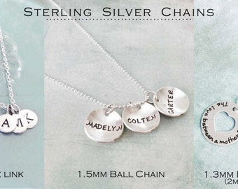 Sterling Silver Chain - Ball chain Fine Link Chain Diamond Cut Ball Chain Linked Ball Chain
