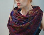 vintage oversized boho floral ethnic print hipster scarves (set of 2)