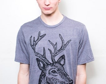 On Sale / XL / Men's Deer with Antlers T-Shirt