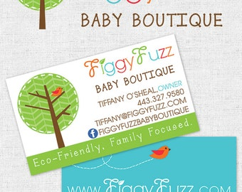 Business Logo Branding Package with Custom Logo and Double Sided Business Card, Kids Logo, Baby Boutique, Doctor, Daycare, Church, Salon