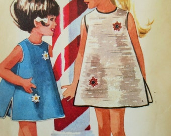 Vintage McCalls 6793 Sewing Pattern, 1960s Dress Pattern, Helen Lee Girls Dress, Bloomers, 60s Sewing Pattern, Chest 24, Vintage Sewing