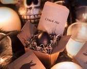 "Crack Me! Raven Egg Halloween Invitations - Creepy Custom Black ""Raven"" or ""Crow"" Egg Invites for Your Unique Event - Spooky, Gothic, Weird"