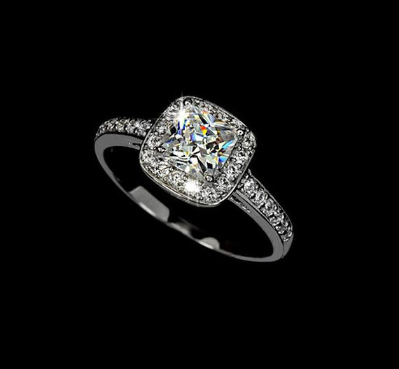 Sterling Silver Cubic Zirconia Wedding Rings Sets 91 Unique Cubic zirconia halo engagement