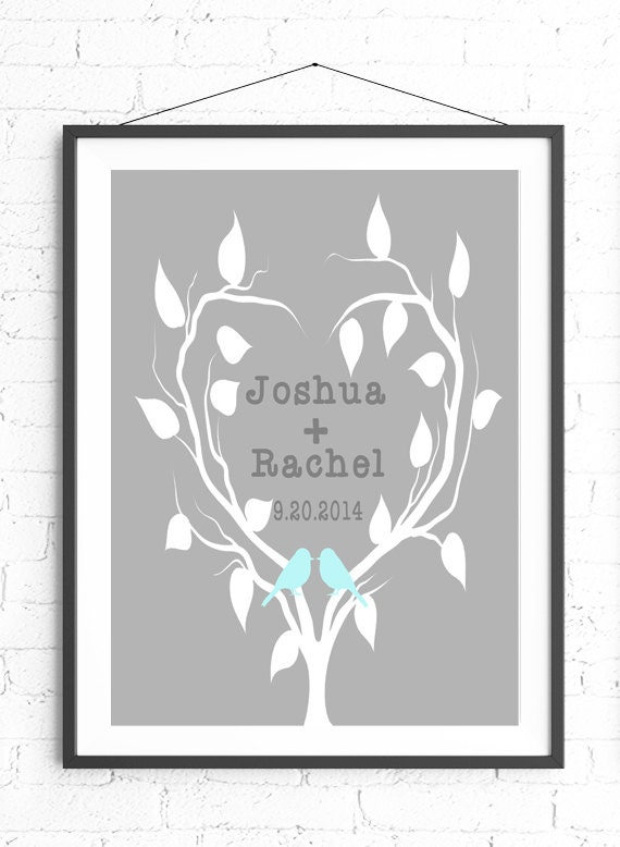 Wedding Gift Wall Art : Custom Wedding Gift, Personalized Anniversary Gift, Wall Art Print ...
