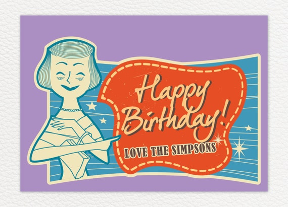 1950s Fun Birthday Card Return With A Twist In This Birthday