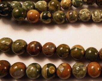 """Ryolite  8.5mm Round Beads 16"""" Strand"""
