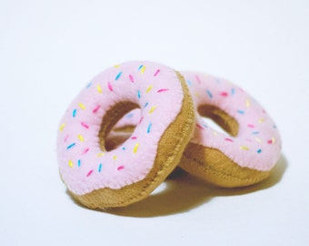 """Pink Icing Catnip """"Donut"""" with Tri-color Sprinkles"""