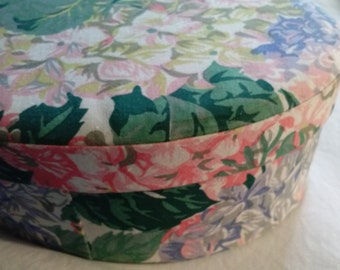 Floral Fabric Covered Oval Box Lovely to Display