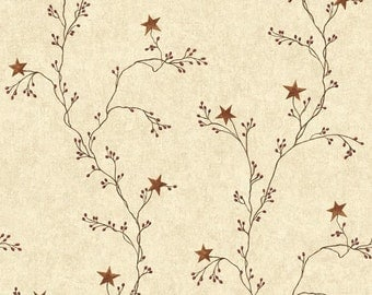 Barnstar and Berry Branch Wallpaper  CT1947  - Sold by the Yard