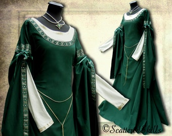 Medieval dress, robe for LARP fantasy in your size - cotton or linen