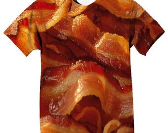 Custom Designed Bacon Tshirt or Tank Top Sublimation Food Clothing