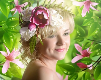 Spring portrait printed on aluminium 3mm wall decoration individual item