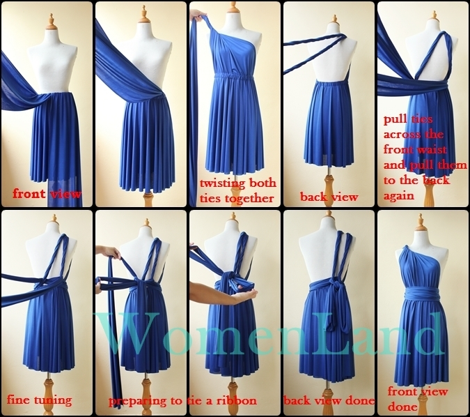 infinity dress wrapping instructions