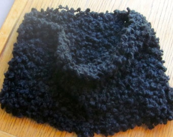 Handmade Cowl Neck Warmer Black in Color
