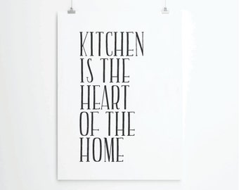 Kitchen art print, kitchen quotes