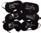 Sleep Mask - Cityscape - Handmade - Fits Kids to Adults - Comes As Show - Pick Your City