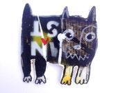 mitsib brooch/badge/pin/magnet