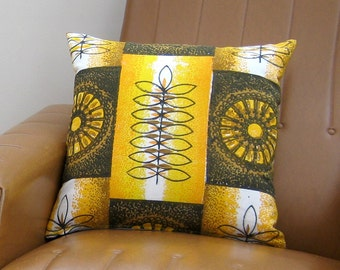 Retro Pillow Cover Cushion - 70s Vintage Barkcloth MOD Panton