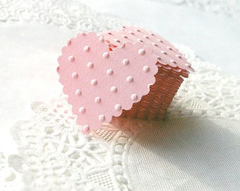Heart Stickers, Heart Envelope Seals, Pink Paper Hearts, Pink Heart Stickers