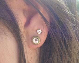 Tiny 25 Auto Stud Earrings, Bullet Earrings, Small Bullet Earrings, Bullet Post Earrings