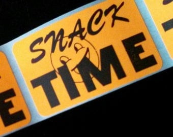 40 stickers - snack time!