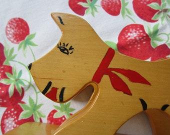Vintage Dog Napkin or Letter Holder Wood Shop Project