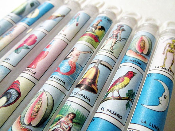 Mexican Wedding Favors Loteria Bubble Wands Game Birthday Party Cinco de Mayo Destination Bag Gifts