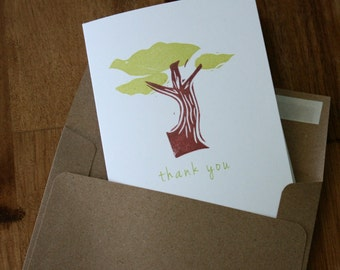 Windswept Cypress Tree Cards - Cypress Tree Thank You Cards - California Note Cards - Box of 6