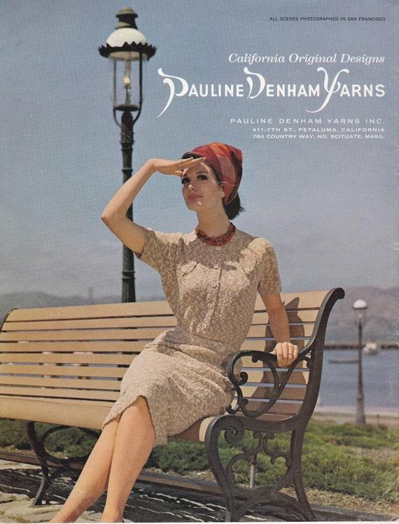 California Original Designs Pauline Denham Yarns Book Sixteen - Vintage Knitting Patterns